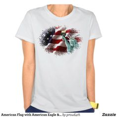 American Flag with American Eagle & Lady Liberty T-shirt