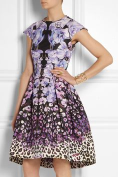 Temperley London | Orchidea printed cotton and silk-blend faille dress