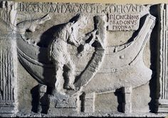 Carpenter or shipwright, ship building, bas-relief from the 2nd century AD, Roman civilization