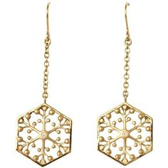 Snowflakes Independence Gold Earrings ($1,600) ❤ liked on Polyvore featuring jewelry, earrings, 18k gold earrings, gold earrings jewelry, round earrings, yellow gold jewelry and gold earrings