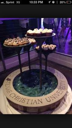 tcu | creative dessert stand. I LOVE THIS FOR A PARTY!!!!!!!