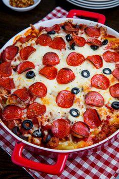 Okay, this Pepperoni Pizza Casserole looks so good.