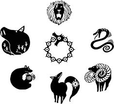 seven deadly sins anime symbols Tatouage Seven Deadly Sins, Seven Deadly Sins Symbols, Seven Deadly Sins Tattoo, Seven Deadly Sins Anime, Sin Tattoo, 7 Sins, Geniale Tattoos, Anime Angel, Anime Eyes