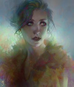 blab blab blab - a digitally painted portrait by Miles Johnston on deviantART Ipad Art, Miles Johnston, Photoshop Art, Digital Portrait, Digital Art, Beautiful Paintings, Female Art, Art Images, Digital Illustration