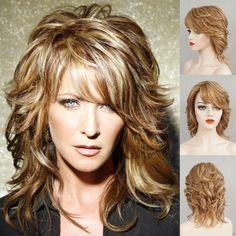 Medium Layered Hair, Medium Hair Cuts, Medium Hair Styles, Curly Hair Styles, Long Layered, Layered Cuts, Short Layers, Midlength Layered Hair, Messy Layers