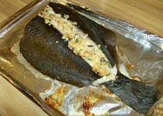 Baked Stuffed Flounder. On a 1-10 rating scale, I give it a 9! It was super tasty!