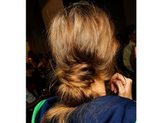 Low bun at Marni spring/summer 2013