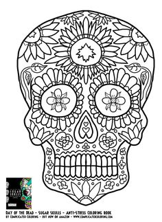 50 Best Skull Coloring 6 Images Adult Colouring In Coloring Pages
