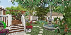 Sunny Hills Side Yard Design