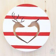 Doe and Deer Heart Christmas Decoration https://www.etsy.com/ca/listing/549222958/deer-christmas-decoration-doe-christmas