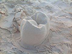 Зуб из песка #стоматология #dentistry