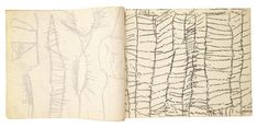 Cy Twombly - Sketchbook - 1952/1953 - Matthew Marks Gallery