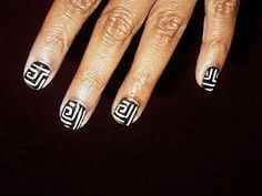 i love black & white nail designs
