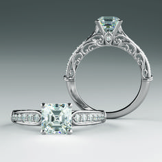JOSEPHINE style 122065 Embellished Gallery Peekaboo Accent Engagement Ring #everandeverbridal