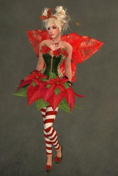 Poinsettia Weihnachtsstern Kostüm selber machen | Kostüm Idee zu Weihnachten, Karneval, Halloween & Fasching
