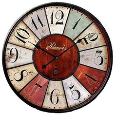 Grazing 5-inch Vintage Rustic Country Tuscan Style No Glass Wooden Decorative Round Wall Clock ( Colorful02)  #5Inch #Clock #Colorful02 #Country #Decorative #Glass #Grazing #Round #Rustic #RusticWallClock #Style #Tuscan #Vintage #Wall #Wooden The Rustic Clock