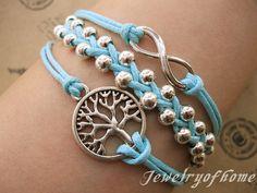 infinity bracelet-infinity bracelet-tree bracelet-beads bracelet-gift bracelet(CH-135) Infinity, Fun Stuff, Beading, Bracelet, O Beads, Beads, Pearls, Infinite, Seed Beads