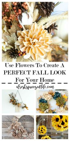Warm days are fading and it is time to put away the flowers. Wrong! Let me show you how to use flowers to create a perfect fall look for your home! USE FLOWERS TO CREATE A PERFECT FALL LOOK FOR YOUR HOME