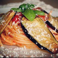 Sicilian Pasta alla Norma! The original recipe inherited by grandma! #norma #pasta #lunch #eggplant #aubergine #sicily #siciliafood #recipe