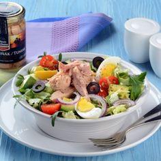 Recept na salát s tuňákem Vasco da Gama krok za krokem - Vaření. Cobb Salad, Healthy Recipes, Fit, Health Recipes, Shape, Healthy Food Recipes, Healthy Diet Recipes, Healthy Eating Recipes