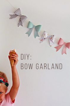 Best DIY Projects: DIY: Bow Garland, would be cute good wishes to baby
