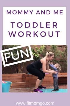 Mommy and Me Workout Toddler Fun Workouts, At Home Workouts, Belly Workouts, Toddler Exercise, Toddler Fun, Fitness Tips, Fitness Motivation, Mommy Workout, Kids Workout