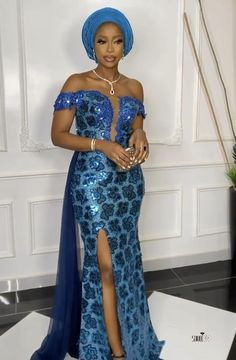 Asoebi Lace dress styles for Owambe. Nigerian Lace Styles Dress, Long African Dresses, Aso Ebi Lace Styles, Lace Gown Styles, African Lace Styles, Latest African Fashion Dresses, African Print Dresses, Lace Styles For Wedding, Cord Lace Styles