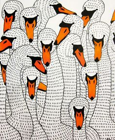 If You're A Bird, I'm A Bird, Johanna Burai,  paintings, patterns, prints, acrylic