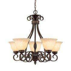 Millennium Lighting 7165 Alma 5 Light Single Tier Chandelier Bronze / Gold Indoor Lighting Chandeliers