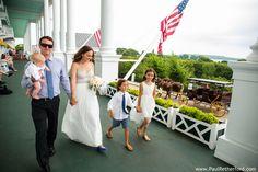grand hotel porch wedding photo