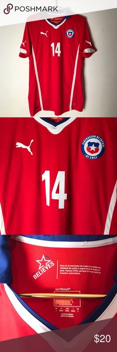 Chile international men's soccer jersey Size large men's chile international soccer jersey by puma Puma Shirts Tees - Short Sleeve
