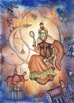 Virgo by Eugene Ivanov. #medieval #horoscope #sign #eugeneivanov #@eugene_1_ivanov
