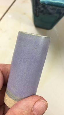 Variation on Autumn's Crystal Matte Cone 6, Standard 553 Custer 34 Silica 12 Whiting 11 Epk 5 Talc. 24 Frit 3134. 10 Zinc Oxide 4 ------------------ Tin oxide 2 Cobalt Oxide .5 Bentonite 2