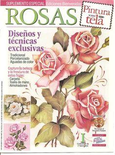PINTURA SOBRE TELA: Rosas « Variasmanualidades's Blog