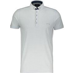 """Bewley & Ritch"" White Dotted Polo Shirt - TK Maxx"