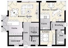 OG mit zweitem Bad, Balkon, Ankleide Grundrisse: OKAL Haus - Zweifamilienhaus - FN 104-134 B V3 * (Effizienzhaus 55)