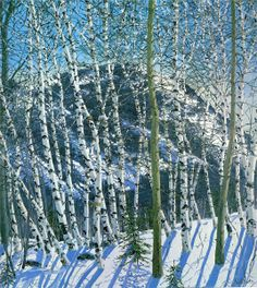 Neil Welliver - Birches, 2005 Maine artist - I have this print framed - love it!