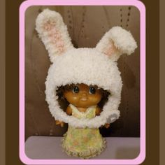 Crochet baby hat. Rabbit