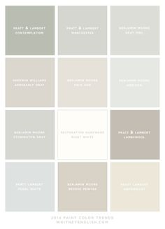 Paint Color Trends for 2014 (Whitney English) - For over a year, I've been working with my friend, Holly Mathis, on updating my house.
