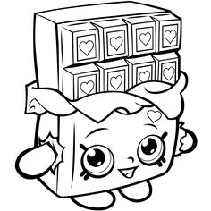 Shopkins Season 1 Chocolate Cheeky Coloring Pages Printable And Book To Print For Free Find More Online Kids Adults Of