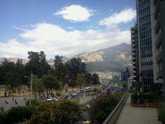 Quito in Ecuador. City is located in 2,500m.