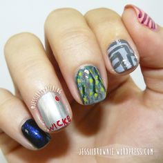Maze Runner nails - The Polished Bookworms - Jessi Brownie Blog