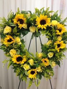 Sunflower Wreath 266