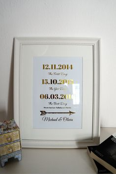 Wedding Date Sign 8x10-A4