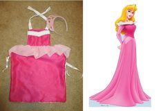 Sleeping Beauty child's dress up apron- Made from child's apron pattern from fabric store, buy fabric to match princess Princess Apron Pattern, Child Apron Pattern, Apron Patterns, Disney Princess Aprons, Disney Aprons, Dress Up Aprons, Dress Up Outfits, Dresses, Sleeping Beauty Dress