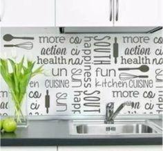 hot sale vinilo decorativo empapelado pared frases cocina