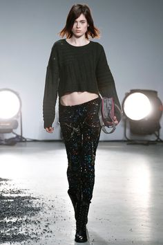 Grey Sweater and Sequin Pants - Zadig  Voltaire | Fall 2014 Ready-to-Wear Collection | Style.com