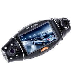 R310 Car Camera DVR Recorder 2.7 Inch HD Dual Camera Lens Rear View Camera Recorder Car DVR IR Night Vision GPS Positioning