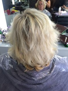 Back of the hair before the root tint