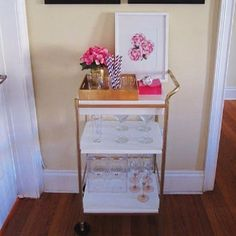 Hack Five: Transform a Bygel utility cart into a stylish bar. | I Tried 5 Ikea Hacks To See How Cheap And Easy They Really Are